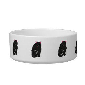 Fluffy Black Kitty Cats Cute Bowl