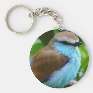 Fluffy Blue Bird Keychain