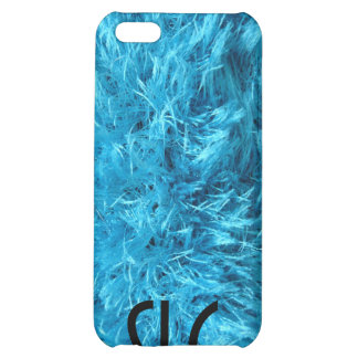 Fluffy Blue Fur Case For iPhone 5C