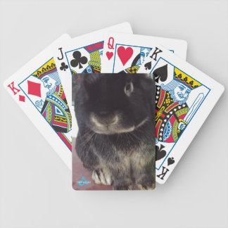 Fluffy Bunny Bicycle Playing Cards