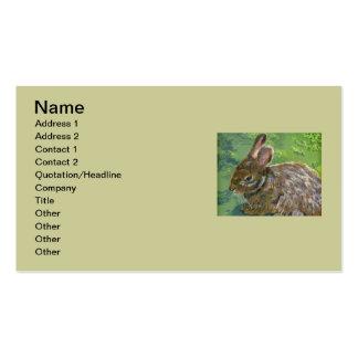 Fluffy Bunny Business Card