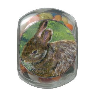 Fluffy Bunny Glass Jars