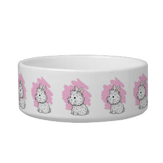 Fluffy Bunny Pet Bowl - Pink