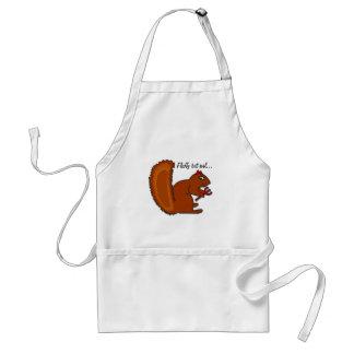 Fluffy but evil... adult apron