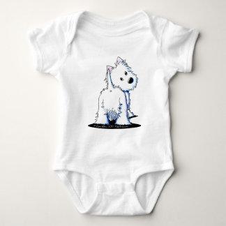 Fluffy Butt Westie Baby Bodysuit