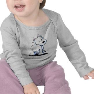 Fluffy Butt Westie Long Sleeve Toddler T-Shirt