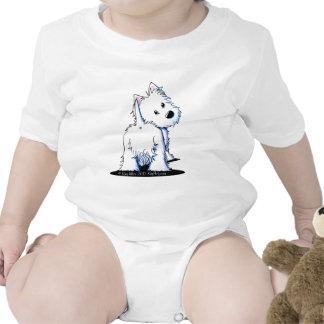 Fluffy Butt Westie Tee Shirts