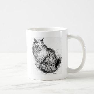 Fluffy Cat Artwork Mug