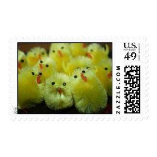 Fluffy Chicks Postage Postage Stamps