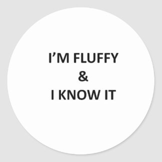 Fluffy Classic Round Sticker