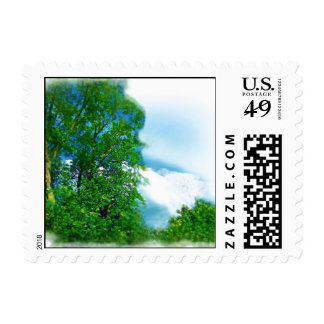 Fluffy Cloud Cover Air Brushed Postage