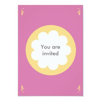 FLUFFY CLOUD INVITATION CARD PINK