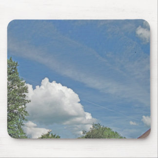 Fluffy Cloud with Accented Edges Mouse Pad