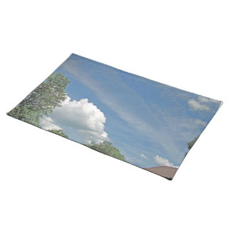 Fluffy Cloud with Accented Edges Place Mats