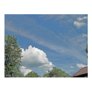 Fluffy Cloud with Accented Edges Postcard