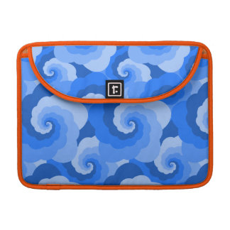 Fluffy Clouds Blue Spiral Sleeve For MacBook Pro