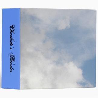 Fluffy Clouds Custom Binder