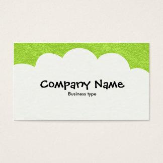Fluffy Clouds - Martian Green Business Card