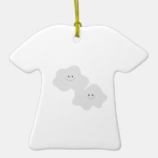 Fluffy Clouds Double-Sided T-Shirt Ceramic Christmas Ornament