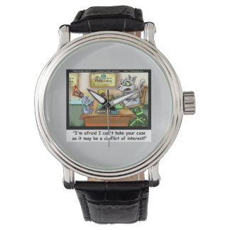Fluffy Cohen Atty At Claw Funny Cat Lawyer Watch