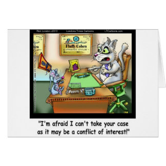 Fluffy Cohen Atty @Claw Funny Cat & Lawyer Cards