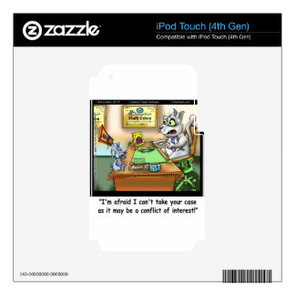 Fluffy Cohen Atty @Claw Funny Cat & Lawyer Decals For iPod Touch 4G