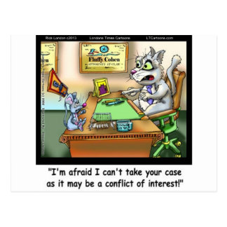 Fluffy Cohen Atty @Claw Funny Cat & Lawyer Postcard