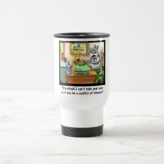 Fluffy Cohen Atty @Claw Funny Cat & Lawyer Travel Mug