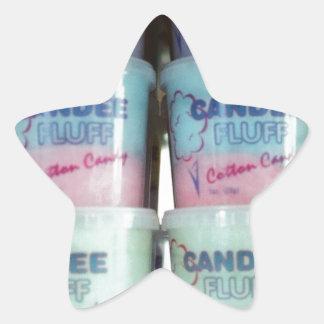 Fluffy Cotton Candy Star Sticker