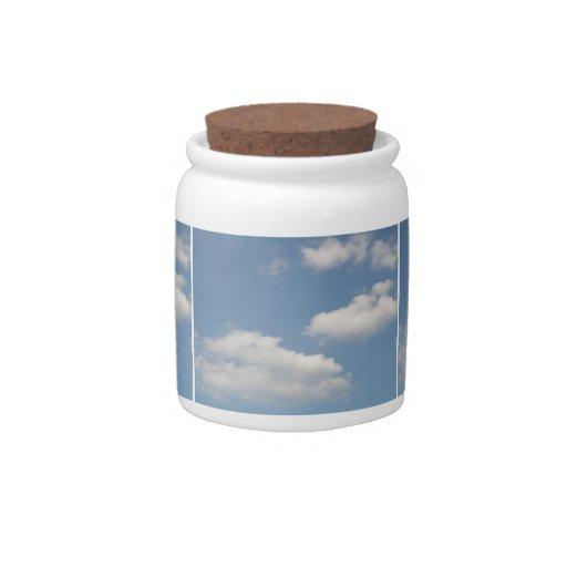 Fluffy Cumulus Clouds Candy Jar