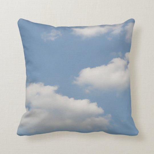 Fluffy Cumulus Clouds Pillow