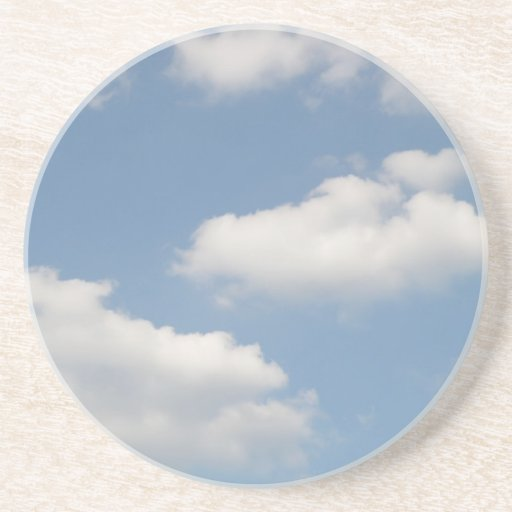 Fluffy Cumulus Clouds Sandstone Coaster