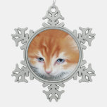 Fluffy Cute Kitty Christmas Ornament