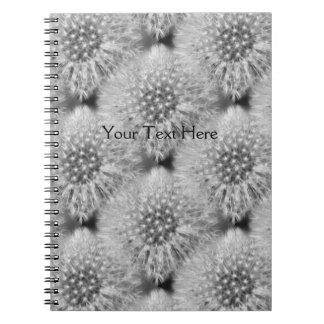 Fluffy Dandelion Flower Nature Art Pattern Notebook