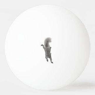 Fluffy Digitally Drawn Grey Squirrel Climbing Down Ping-Pong Ball