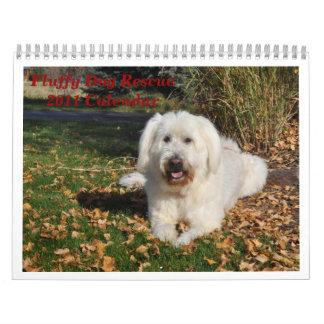 Fluffy Dog Rescue Calendar