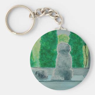 Fluffy Dogs Keychain