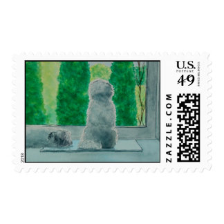 Fluffy Dogs Postage