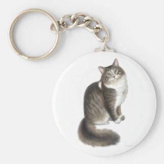 Fluffy Duffy Cat Keychain