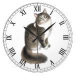 Fluffy Duffy Cat Wall Clock