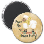 Fluffy Ewes 2 Inch Round Magnet