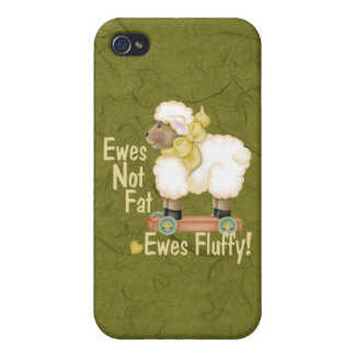 Fluffy Ewes Case For iPhone 4