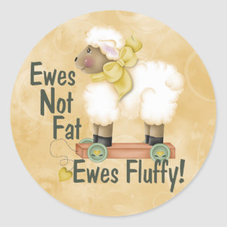 Fluffy Ewes Classic Round Sticker