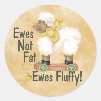Fluffy Ewes Classic Round Sticker