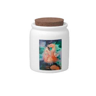 Fluffy Flamingo Candy Jar