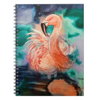 Fluffy Flamingo Notebook
