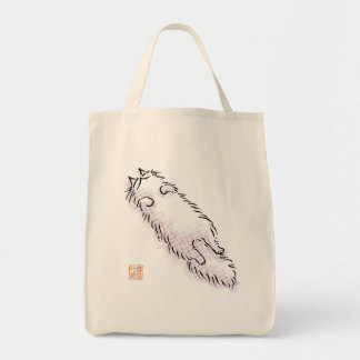 Fluffy Flop Cat Canvas Bag