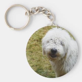 Fluffy Frizzy Bad Hair Day Dog Basic Round Button Keychain