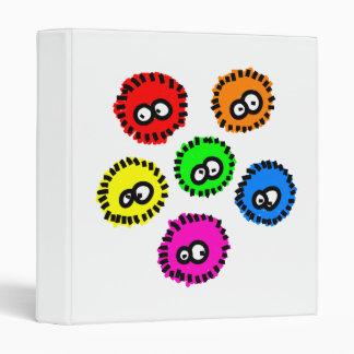 Fluffy Germs 3 Ring Binder