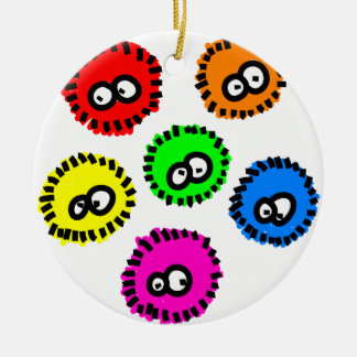 Fluffy Germs Christmas Tree Ornaments